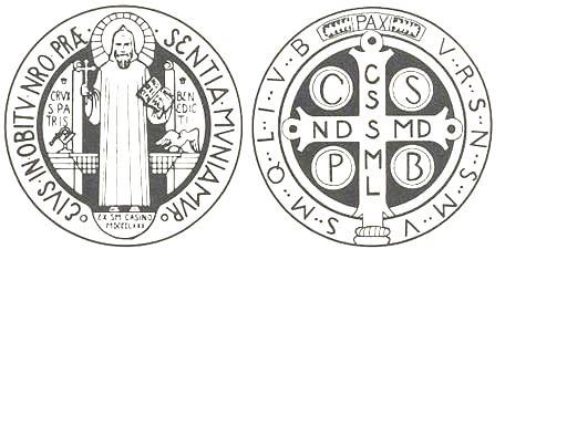 Imagen de la medalla de San Benito. (Mensaje sin texto).
